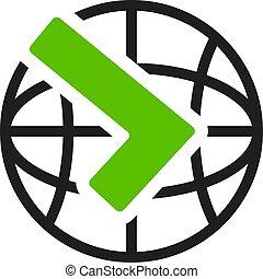 Worldwide shipping vector icon