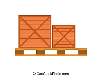 Worldwide Warehouse Deliver. Pallet with boxes