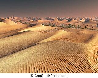 worldwide warming concept. solitary sand ridges under...
