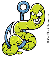 Worm - Vector illustration cartoon worm