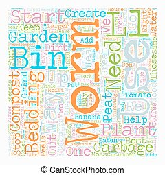 Worm Compost Bin text background wordcloud concept
