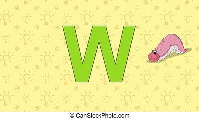 Worm. English ZOO Alphabet - letter W - Animated English ZOO...