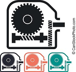 Worm Gear Reducer Vector Icon