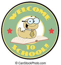 worm, groene, welkom