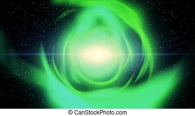 Wormhole science fiction solar wind sci-fi flight through worm hole stars