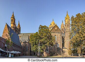 Worms cathedral - old historic cathedral of Worms, Germany