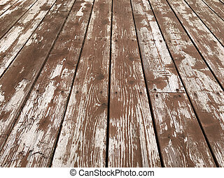Worn and Peeling Deck Stain - Worn and peeling deck stain...