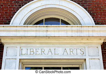 Worn and Weathered Liberal Arts Sign - Worn and weathered...