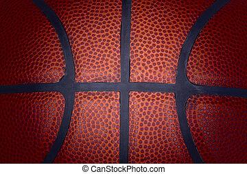 Worn basketball