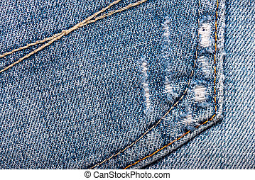 worn blue jeans fabric texture