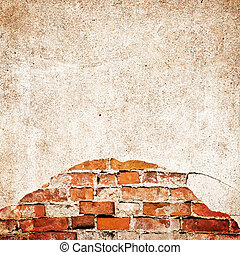 Worn bricks wall