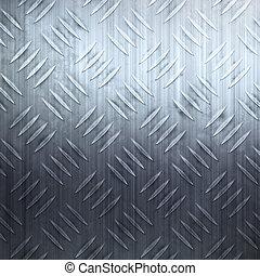 Worn Diamond Plate - Worn diamond plate metal texture in a...