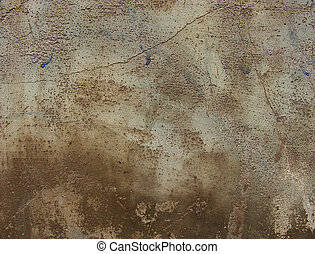 worn dirty brown gray concrete wall with crack