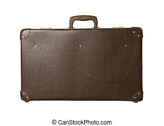 Worn down suitcase