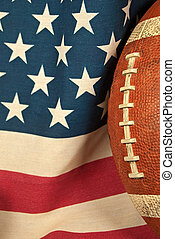 football on an American flag