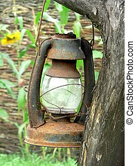 Worn Lamp on the tree