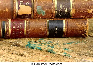 worn law books