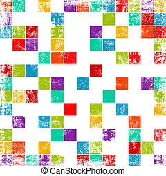 worn out background with squares