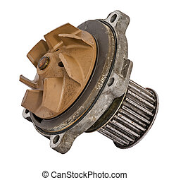 Worn out water pump dismounted from the vehicle engine...