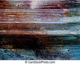 Worn Painted Wood Boards Background