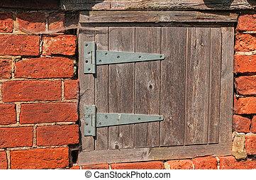 Worn Small Wooden Door