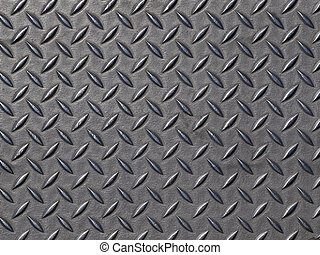 Worn steel road plate. Grunge background texture.