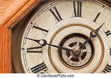 Worn Vintage Antique Clock Face