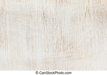 Worn wood - Worn white paint on wood background texture