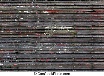 Worn Wood wall - Worn and eroded wood wall with hints of...
