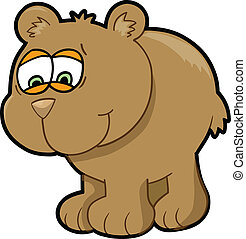 Worried Bear Vector
