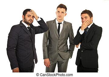 Worried business men