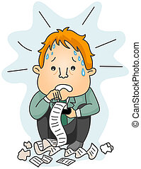 Worried Businessman - Businessman worried about his...