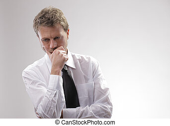Worried businessman - Portrait of a mature businessman ...