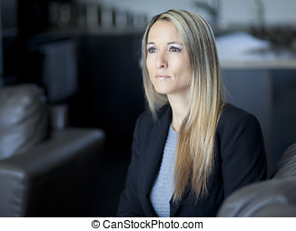 Worried Businesswoman - Sadness, Worried, Problems,...
