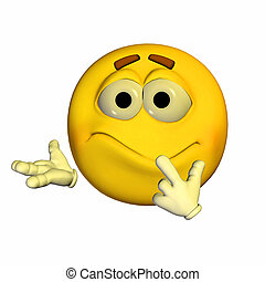 Worried Emoticon - Illustration of a worried emoticon...