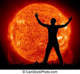 Worship to Sun. Element of design.