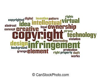 wort, copyright, wolke