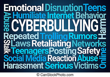 wort, cyberbullying, wolke