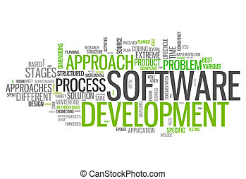 wort, design, wolke, software