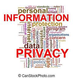 wort, etikette, von, infomation, privatleben