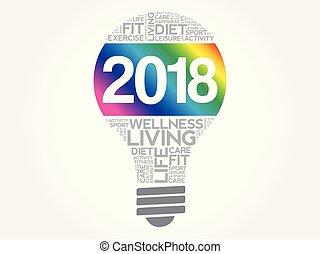 wort, gesundheit, ziele, zwiebel, wolke, 2018