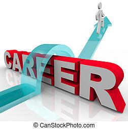 wort, karriere, besser, person, arbeit, steigend, beförderung, gelegenheit