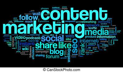 wort, marketing, zufriedene , etikett, conept, wolke