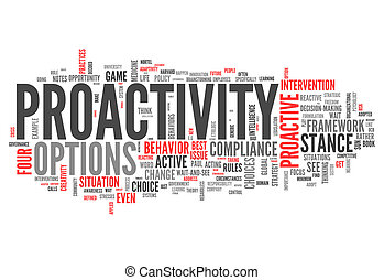 wort, proactivity, wolke