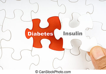 wort, puzzel, stichsaege, hand, insulin, besitz, stück, zuckerkrankheit