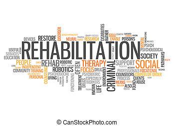 wort, rehabilitation, wolke