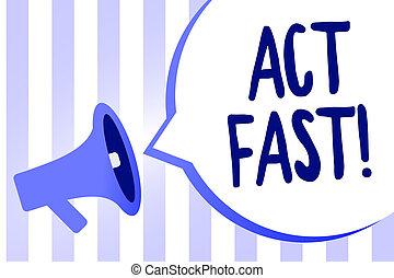 wort, schreibende, text, akt, fast., geschäftskonzept, für, freiwillig, einziehen, der, höchsten, staat, von, geschwindigkeit, initiatively, megaphon, lautsprecher, laut, schreien, schrei, idee, talk, sprechende , vortrag halten , bubble.