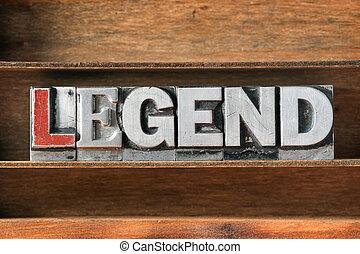 wort, tablett, legende