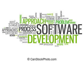 wort, wolke, software, design