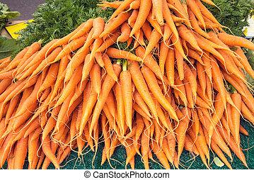 wortels, te koop, op, een, markt